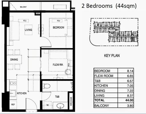 100 west 2 bedrooms