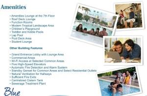 blue residences amenities