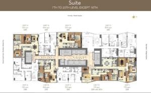 grand hyatt residences floor plan