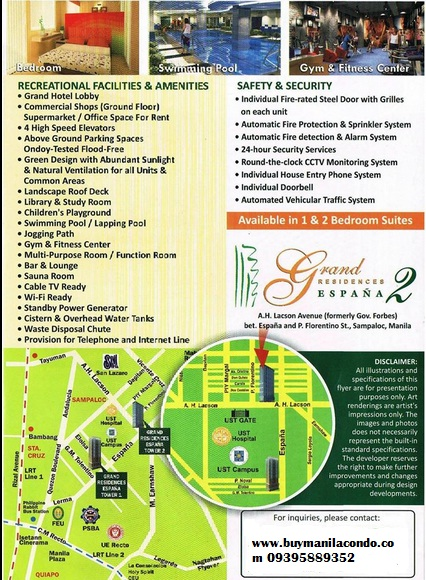 grand residences espana condo for sale in UST