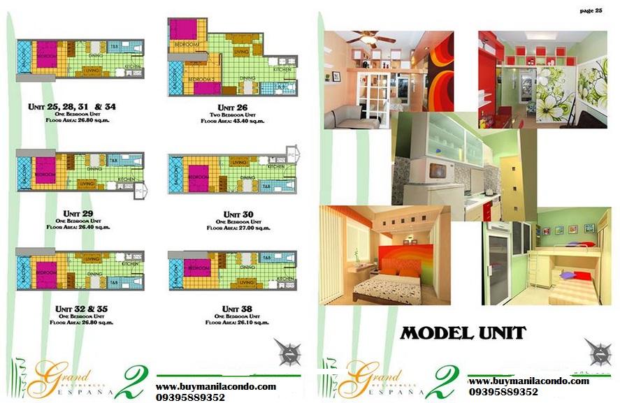 model unit grand residences espana
