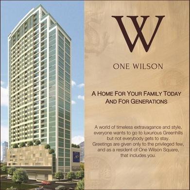 Condo for sale Greenhills One Wilson