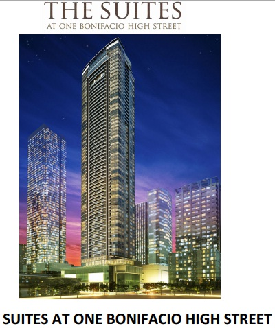 THE	SUITES AT ONE BONIFACIO HIGH STREET FORT BONIFACIO GLOBAL CITY