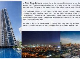 Axis residences - condo for sale pioneer, boni mandaluyong city