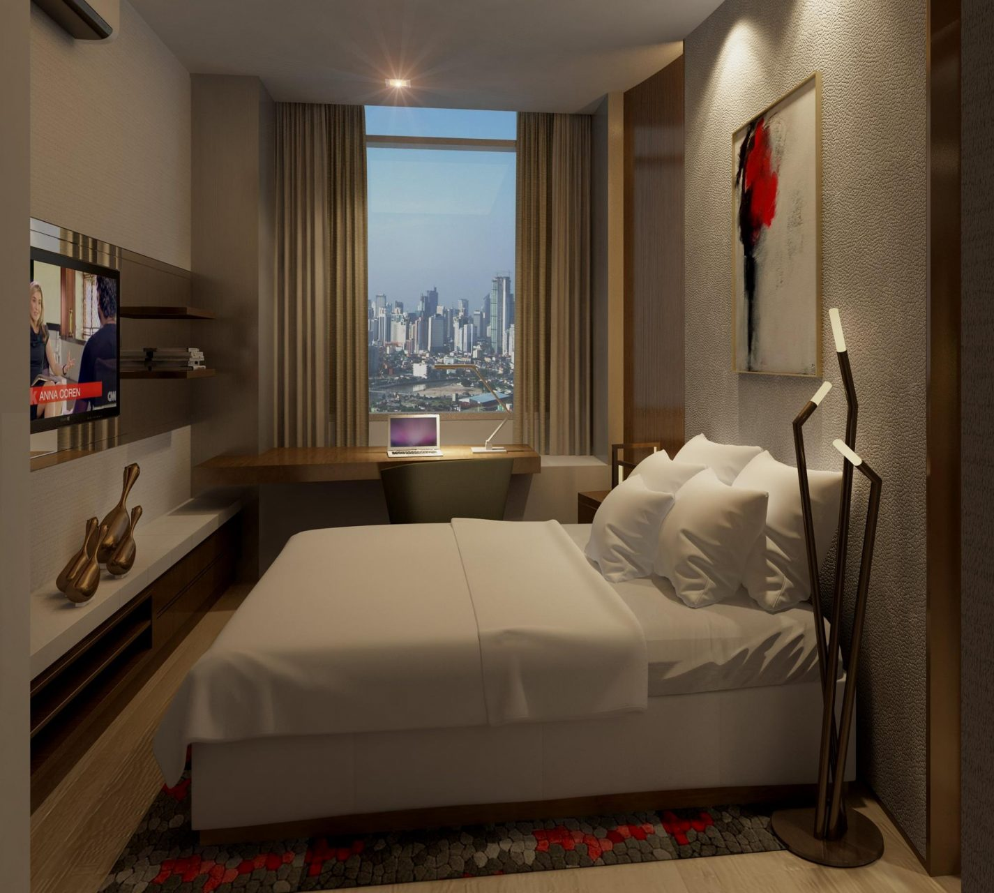 Master bedroom of a 1 bedroom unit buy manila condo for One bedrooms