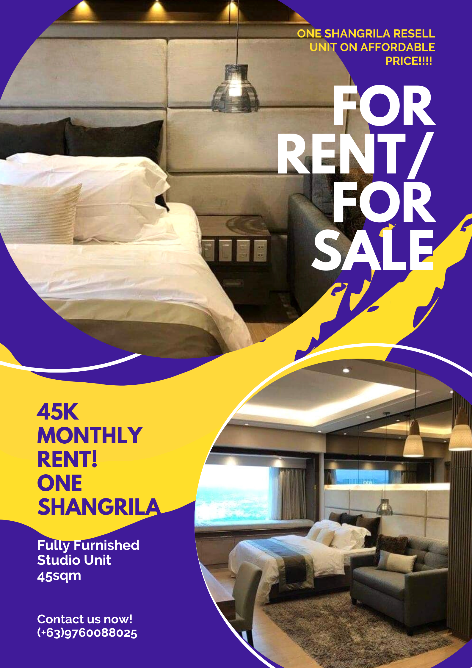 One Shangrila For rent/ For Sale